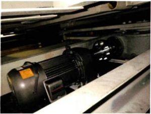 水平循環式駐車装置横送り用モーター交換事例(フランジ型カップリング自社にて選定)