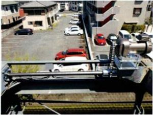 慣行昇降式駐車装置昇降モーター交換事例(駆動装置一式自社にて設計)