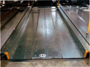 横行昇降式パレット交換事例(塗装パレット⇒メッキパレット)